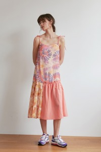[-35%]Ribbon one peice[Tie dye]