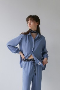 Scarf blouse[Blue]